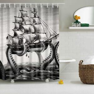 Image Is Loading Multi Size Octopus Kraken Attack Galleon Carrack Retro