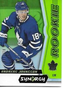 2018-19-Upper-Deck-Synergy-ANDREAS-JOHNSSON-63-Rookie-018-299-Jersey-Green