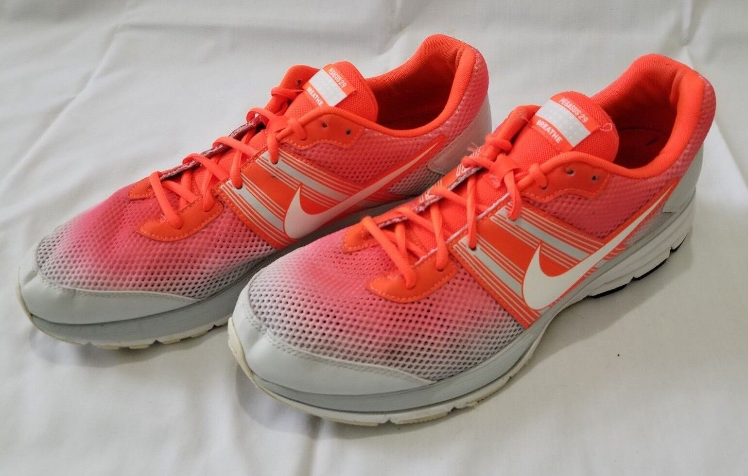 Uomo Size 13 Grey Pink Nike Air Pegasus 29 Breathe Running Shoes 579955-810 used
