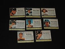 8 old 1961 POST CEREAL BASEBALL CARDS Cardinals Dodgers White Sox Reds Pirates