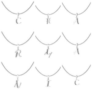 925-Sterling-Silver-Initial-Charm-Necklace-A-Z-initials-Box-Chain-Necklace