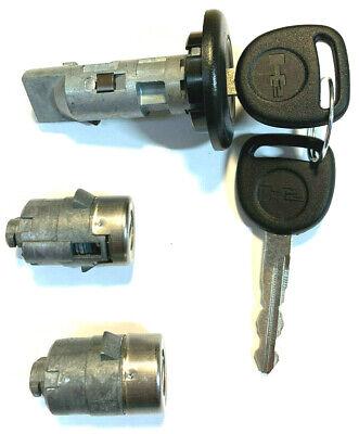 Chevy OEM Ignition Key Switch Lock Cylinder /& Door Lock Pair Set 2 Keys