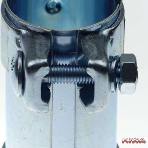 Tubo de escape conector//tubo conector//doble abrazadera 50 x 80 mm
