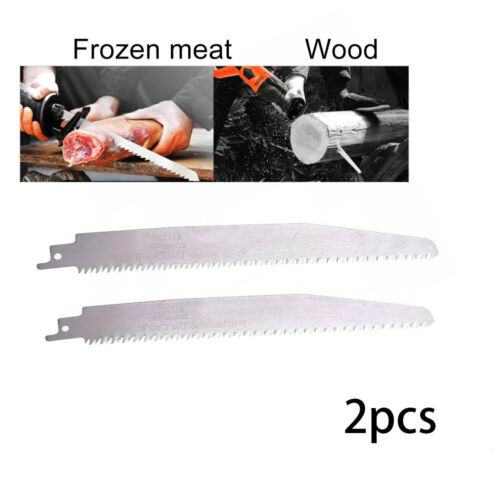 2 *S1122C Stainless Steel Reciprocating Saw Blade For Cutting Bone Meat Wood .