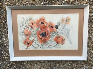 Ann-Garman-Poppies-pencil-And-Water-Colour