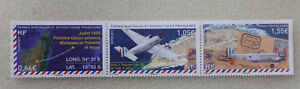 2014-FRANCE-FRENCH-ANTARCTIC-PLANES-SET-OF-3-MINT-STAMPS