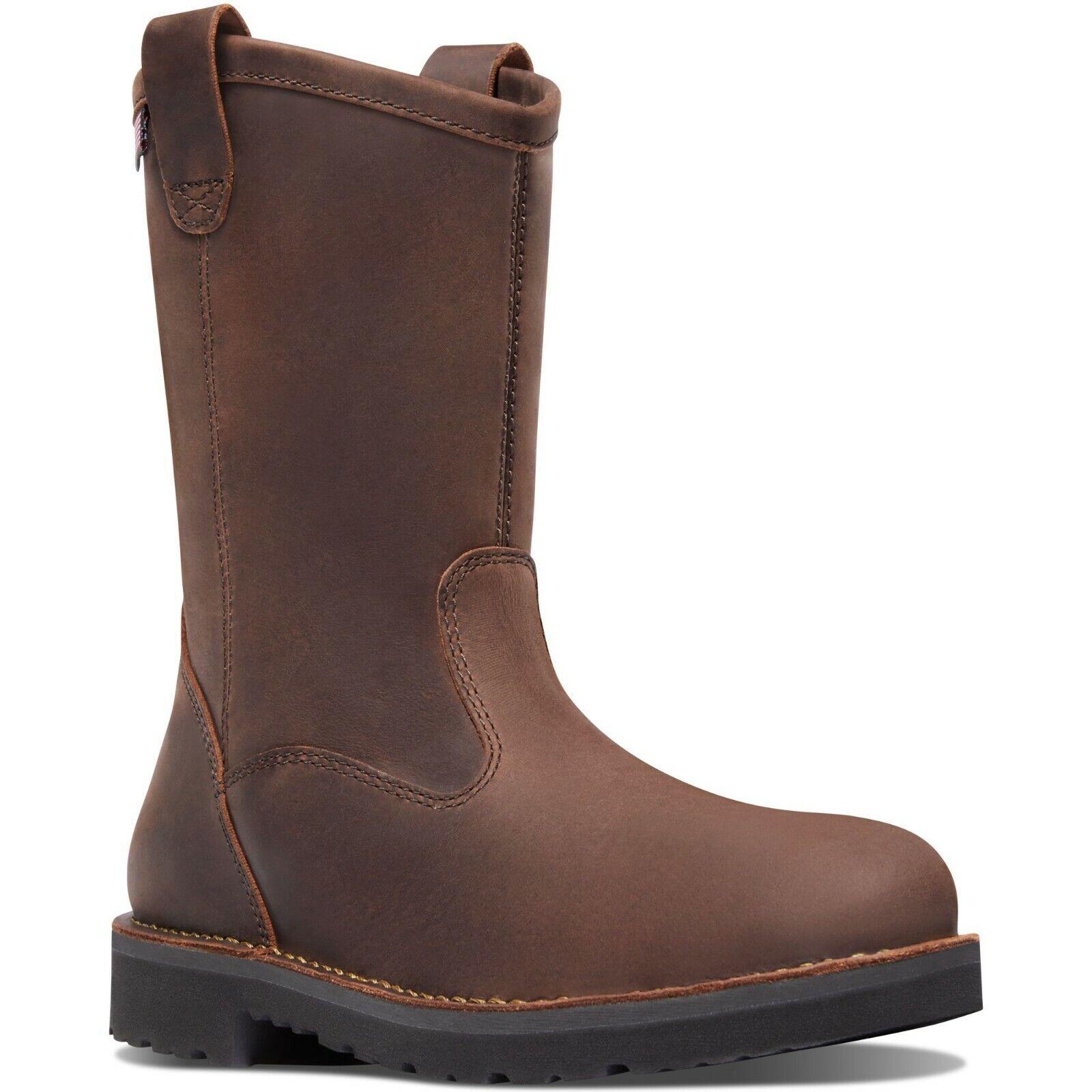 Zapatos De Cuero Danner para hombre 15580 Bull Wellington 11  Marrón Punta rojoonda Run botas