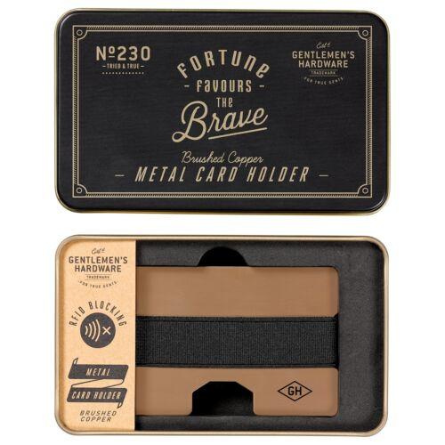 Orologio hardware in metallo porta carte di credito nuovo con scatola di marca regali RFID Blocco