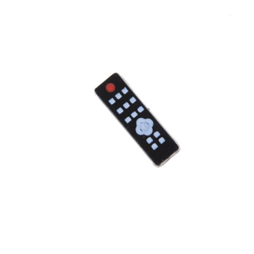 1:12 Dollhouse Miniature Widescreen Flat Panel LCD TV Remote Gray Home Decor Lp