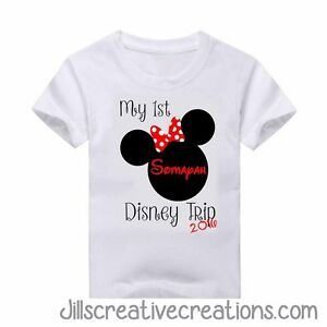 36f50643 Image is loading T-shirt-Custom-T-Shirt-My-First-Disney-