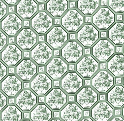 Casa De Muñecas Wallpaper 1//12th 1//24th Escala Cocina Verde Papel de calidad # 172