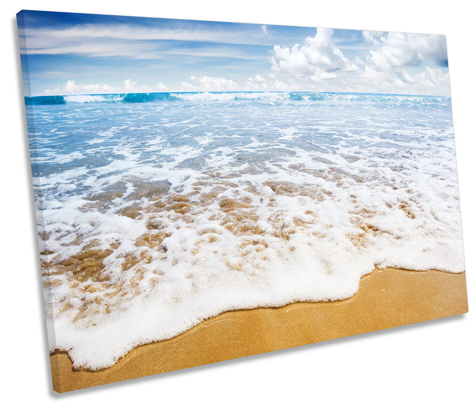 Beach Surf Wave Seascape SINGLE CANVAS WALL ART Box Framed