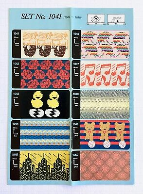7021-7030 CARD SET 7021 Weaving **NEW** 10 Cards NO Toyota PUNCHCARDS