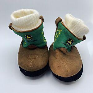 John Deere Infant Baby Boots Faux Suede