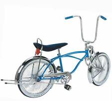"20"" Lowrider bike with Bent fork 144 spokes coaster brake pick up : 6 colors"
