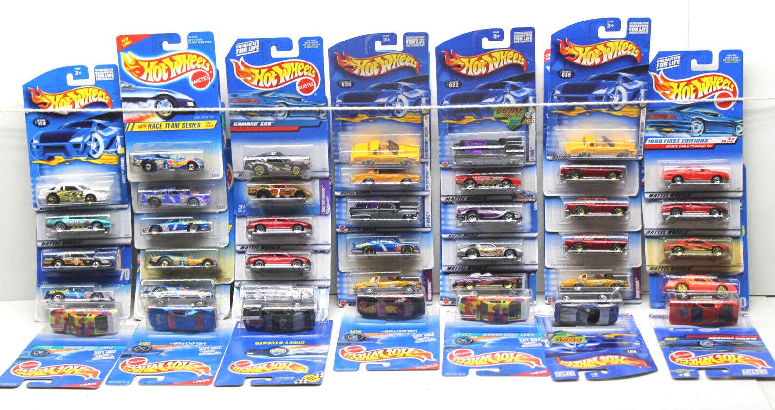 40 PC Hot Wheels Chevrolet Chevy Die Cast Coche Camión Lote de 1994 - 2004 Mattel Nuevo En Tarjeta