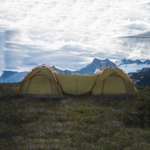 Qwest automatique Instantanée Pop Up Camping Double Tente Abri avec passage vert