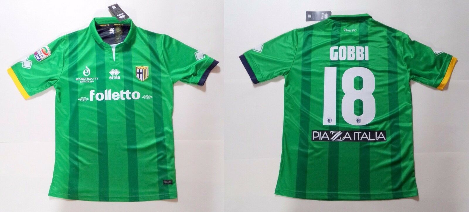 Parma Juventus Errea Gobbi 18 Official Match Jersey T-Shirt Competition Issue