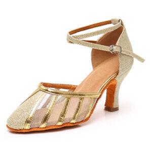 Ballroom-Dance-Shoes-Women-Girls-Ladies-Latin-Shoes-5-7CM-Heel-Soft-Indoor-Dance