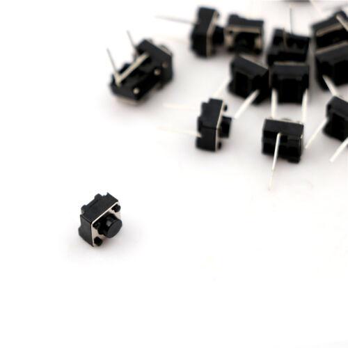 20Pcs Momentary Tactile Tact Push Button 2 Pin Switch DIP 6 x 6 x 5m FD