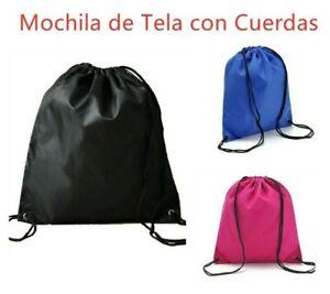 2Bolsa-Mochila-de-Tela-con-Cuerdas-para-Deporte-Escuela-Camping-Piscina-Viaje