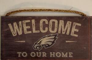"""Philadelphia Eagles """"Welcome To Our Home"""" Wood Distressed Sign (New) (Slight Imperfection) Canada Preview"""