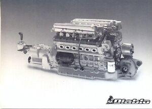 Lamborghini Diablo V12 Engine Official Press Photo Ebay