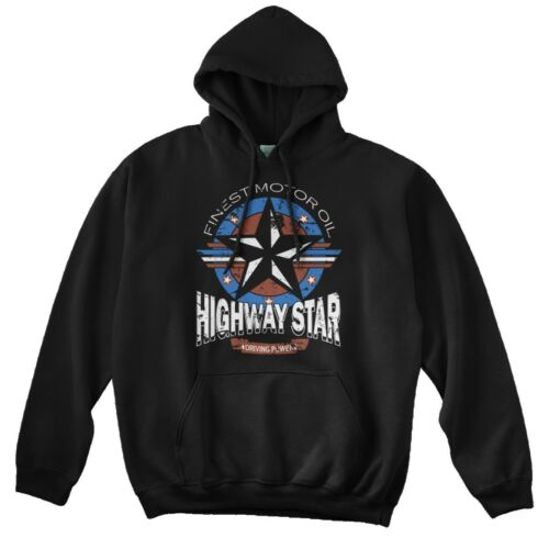Motorolie Inspired Deep Purple hoodie Star zwart Highway IvF6q