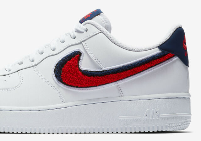 25b54c408d1 Nike Air Force 1 Low AF1 3D WHITE UNIVERSITY RED BLUE VOID 823511-106 sz