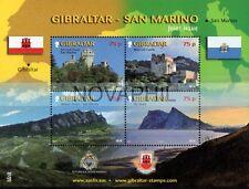 GIBILTERRA   2010 - CONGIUNTA CON  SAN MARINO  FOGLIETTO NUOVO **