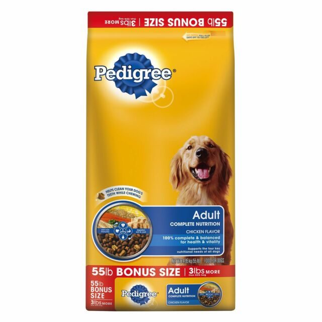 Pedigree Dry Dog Food Complete Nutrition 55 Lb Bag All Breeds Sizes