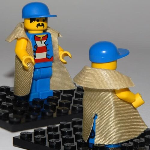 Custom Lego Minifig Trench Coat Colors Available 20