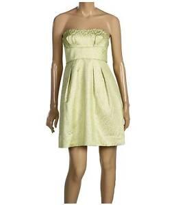 Bcbg Maxazria Strapless Metallic Jacquard Dress Sz 4 Ebay