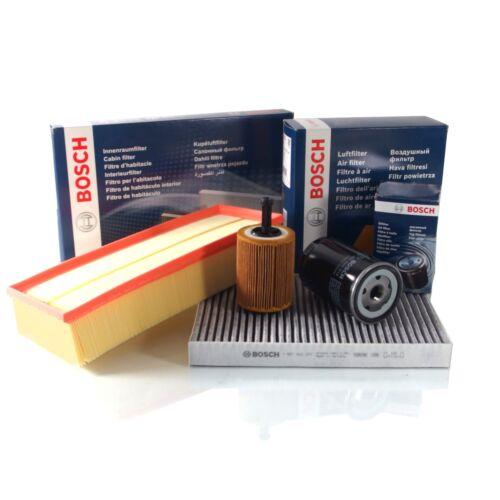BOSCH Luftfilter Ölfilter Innenraumfilter Set Kit Ford Fiesta VI 1.4 1.5 1.6TDCi