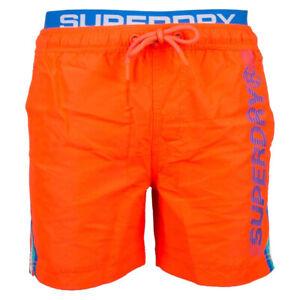 Superdry-Herren-State-Volley-Swim-Short-Schwimmhose-Shorts-M3010010A-orange