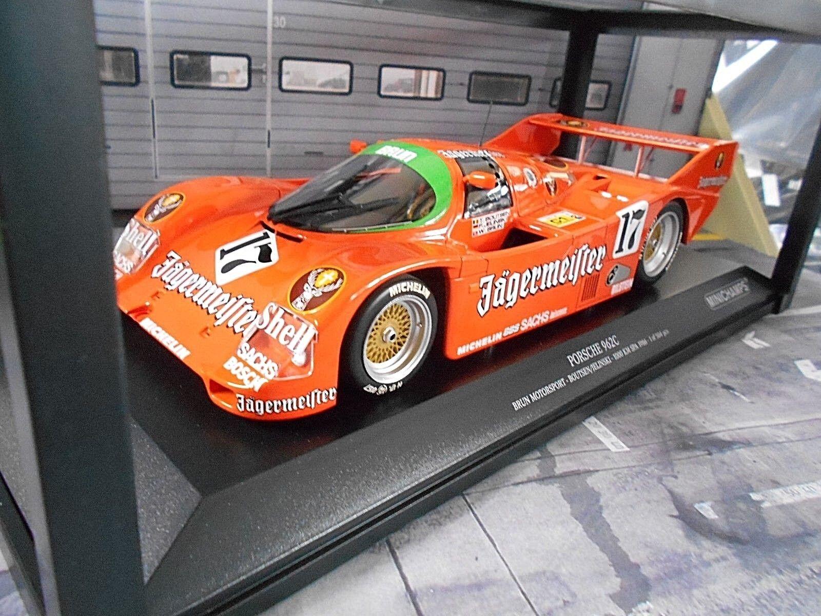Porsche 962 956 II  17 Spa Win 1986 Bcourir  Jägermeister Boutsen Minichamps 1 18  dégagement jusqu'à 70%