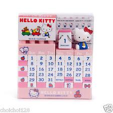 Hello Kitty Pink Reusable Perpetual Calender Block Pink Desk Interior KK813