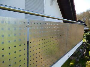Aluminium Lochblech Balkonverkleidung Qg 15 60 2 Mm Lange1000 Mm