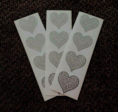 Vintage Mrs Grossman/'s Scrapbooking Stickers 3 Strips 1998 Brocade Hearts