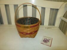 Longaberger Cristmas Collection Jingle Bell Basket Combo