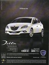 Publicité Advertising LANCIA DELTA platino diesel boite robotisée selectronic
