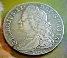 1746 GEORGE 2ND LIMA BELOW BUST SILVER HALFCROWN,  (31)