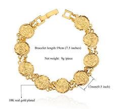 Damen Allah Armband Islam 21cm 750er Gold 18 Karat vergoldet Damenarmband