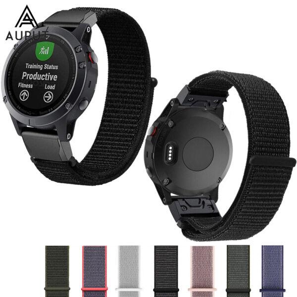 Nylon Sport Loop Ersatz Uhrenarmband Für Garmin Fenix 5 5s 5x Plus 3 Hr S60
