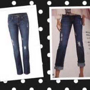 Dark 3045 8 Slim Cabi Jeans Blue Wash Denim 119 Boyfriend Taglia Distressed cIcqvUa