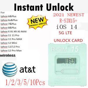 R-SIM15+ Nano Unlock RSIM Card for iPhone 12 11 Pro XS MAX XR X 8 iOS14 5G LOT