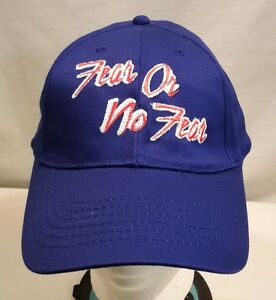 a158673fadc Image is loading Fear-Or-No-Fear-Cap-Hat-NWOT