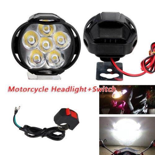 2pcs Spotlight Universal LED Motor Headlight Mirror Mount Fog DRL Switch Plastic