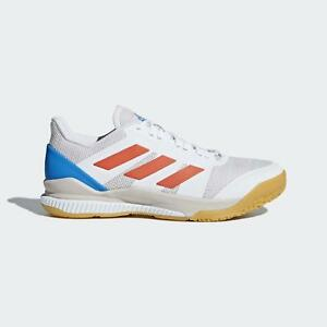 d96e1f5b8 Image is loading Adidas-Indoor-Court-Stabil-Bounce-White-Shoes-Trainers-