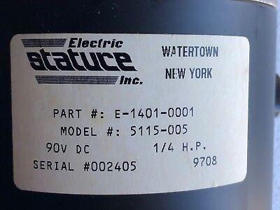 DC motor 1//8HP 42V 1250 RPM 1//4HP 90V 2500RPM